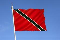 Flagge von Trinidad und von Tobago Karibisches Meer Lizenzfreies Stockbild