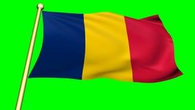 Flagge von Tschad, Afrika stock abbildung