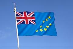 Flagge von Tuvalu Lizenzfreies Stockbild