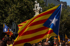 Flagge von Unabhängigkeit von Katalonien Stockbild