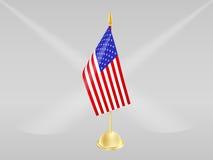 Flagge von USA auf grauem BG Lizenzfreie Stockfotografie