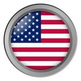 Flagge von USA runden als Knopf lizenzfreies stockbild