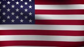 Flagge von USA verlangsamen das Wellenartig bewegen stock abbildung