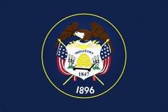 Flagge von Utah-Wand Lizenzfreies Stockbild