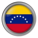Flagge von Venezuela-Runde als Knopf lizenzfreies stockfoto