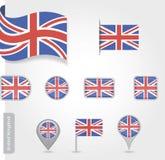 Flagge von Vereinigtem Königreich Stockfoto