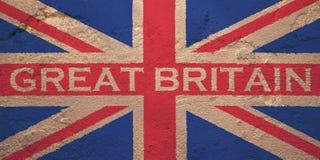 Flagge von Vereinigtem Königreich von Großbritannien lizenzfreies stockfoto