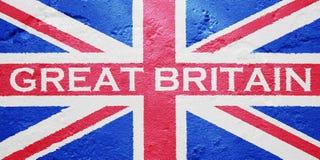Flagge von Vereinigtem Königreich von Großbritannien lizenzfreies stockbild