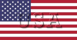 Flagge von Vereinigten Staaten von Amerika USA Lizenzfreie Abbildung