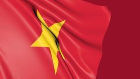 Flagge von Vietnam-Wellenartig bewegen