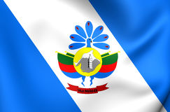 Flagge von Vila Pavao City, Brasilien Stockfotografie