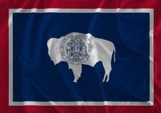 Flagge von Wyoming-Hintergrund, der Gleichheits-Zustand, für immer nach Westen stock abbildung