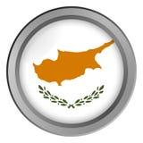 Flagge von Zypern-Runde als Knopf lizenzfreie abbildung