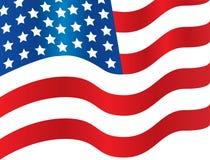 Flagge-Wellenartig bewegen Stockfotografie