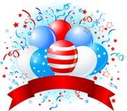Flaggeballonauslegung Stockbild