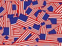 Flaggecollage lizenzfreie abbildung