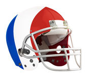 Flagged France American football helmet. Isolated on a white background with detailed clipping path Stock Photos