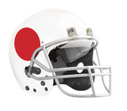 Flagged Japan American football helmet. Isolated on a white background with detailed clipping path stock images