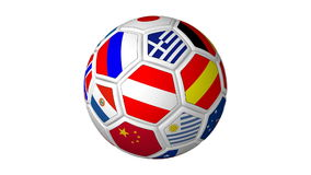 Flagged Soccer Ball stock video