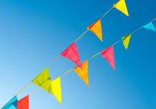 Flaggemarkierungsfahnen Stockfoto