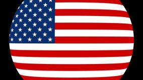 Flaggen-Übergang 4K der Vereinigten Staaten von Amerika stock video