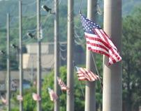 Flaggen auf einer Damm Lizenzfreie Stockfotografie