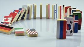 Flaggen auf weißer Oberfläche stock video footage