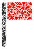 Flaggen-Collage von Dreiecken stock abbildung