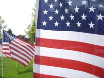 9/11 Flaggen-Denkmal Lizenzfreies Stockfoto