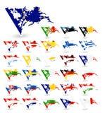 Flaggen der schlechten Zustandes der Europäischen Gemeinschaft vektor abbildung