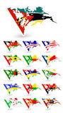 Flaggen der schlechten Zustandes von Afrika 3 Stockfoto