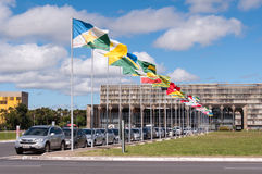 Flaggen der Staaten von Brasilien Lizenzfreie Stockfotografie