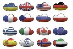 Flaggen der Welt Lizenzfreie Stockfotos
