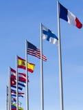 Flaggen der Welt Stockbild