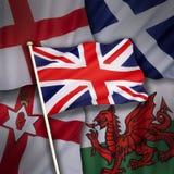 Flaggen des Vereinigten Königreichs von Großbritannien Lizenzfreie Stockfotos