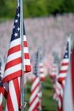 Flaggen des Wagemuts außerhalb des Heiligen Louis Art Museum Stockfotografie