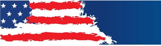 Flaggen-Fahnen-Schablone der Vereinigten Staaten von Amerika Lizenzfreies Stockbild