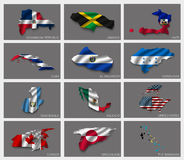 Flaggen in Form von Zuständen Lizenzfreies Stockfoto
