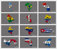 Flaggen in Form von Zuständen Lizenzfreies Stockbild