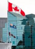 Flaggen in Halifax Stockbild