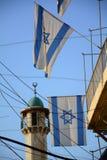 Flaggen in Jerusalem Stockfotos