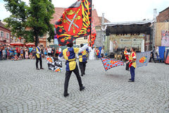 Flaggen-Parade Stockfoto