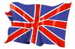 Flaggen-Reihe: Vereinigtes Königreich stockfoto