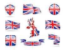 Flaggen-Sammlung Vereinigten Königreichs Stockbilder