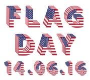 Flaggen-Tag von den Flaggenbuchstaben 3d USA Lizenzfreies Stockbild