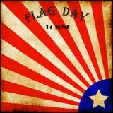 Flaggen-Tagesamerikanische flagge spielt grungy Weinlesebeschaffenheit der Streifen die Hauptrolle Lizenzfreie Stockbilder