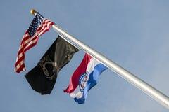 Flaggen, US, Missouri, Kriegsgefangen, mia, lizenzfreies stockbild