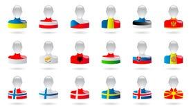Flaggen von Europa stock abbildung