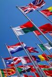 Flaggen von Ländern auf der ganzen Welt Stockfoto