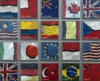 Flaggen von Nationen F1 Stockbild